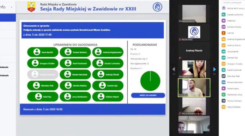 Wyniki głosowania screen z sesji