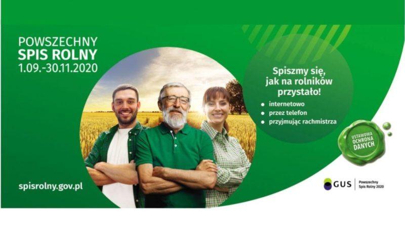 Plakat dotyczący spisu rolnego