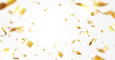 złote konfetii