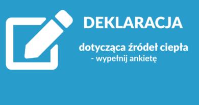 ikona deklaracji i napis informacyjny