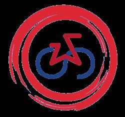 Logo projektu, rower w pętli