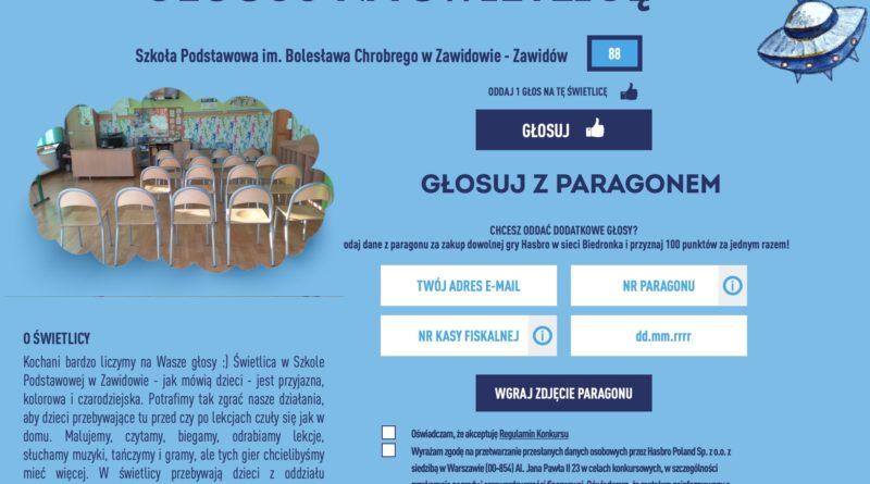 screen ze strony konkursowej