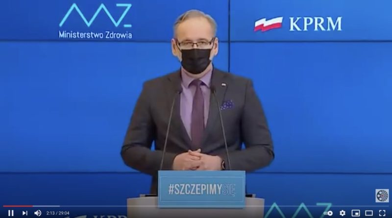 Minister Zdrowia na konferencji prasowej