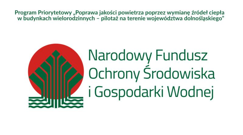 Logo Narodowego Funduszu Ochrony Środowiska i Gospodarki Wodnej oraz tytuł programu